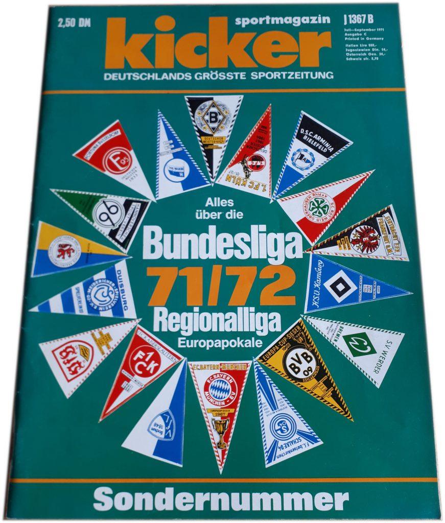 Kicker Sonderheft aus der Saison 1971/72