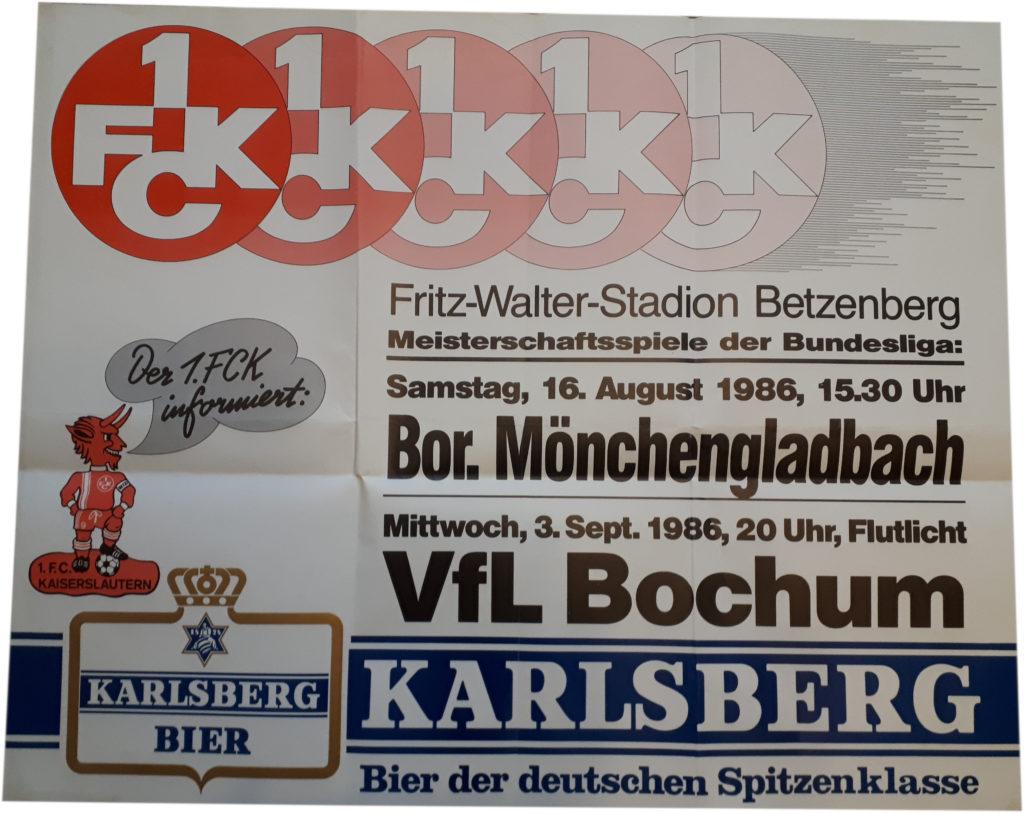 Spielplakat 1. FC Kaiserslautern
