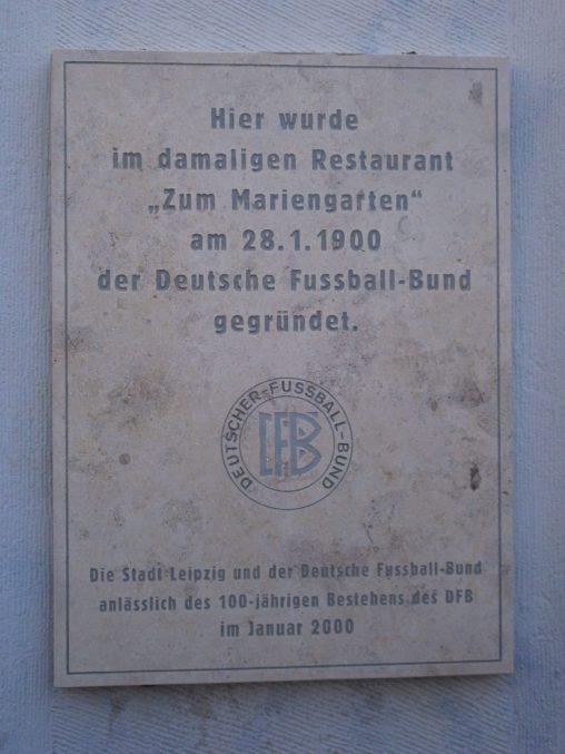 Gründungsstätte des DFB in Leipzig