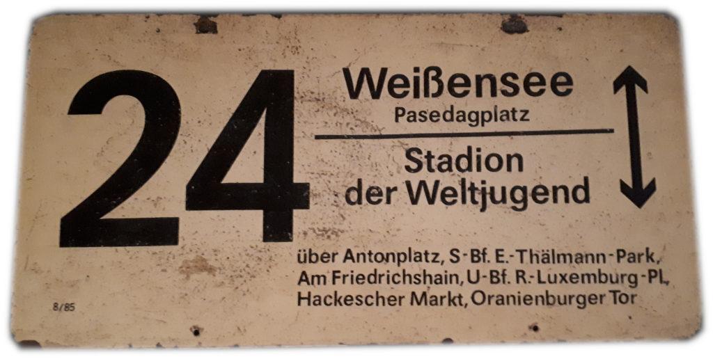 DDR-Bahnschild
